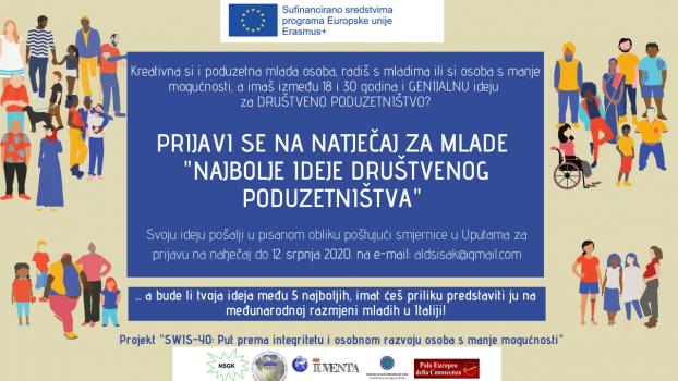 ALD-Sisak objavila natječaj za mlade. Na fotografiji plakat s informacijama za prijavu mladih na natječaj.