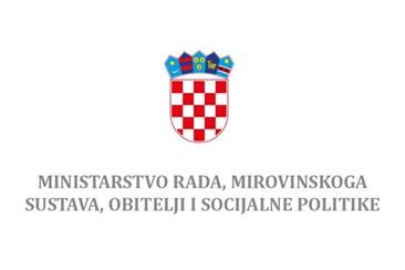 Logo ministarstva rada, mirovinskog sustava, obitelji i socijalne politike